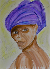 Purple Turban Lady (BKHagar *Kim*) Tags: bkhagar sketch drawing art artwork artday watercolor watercolour turban lady woman female purple