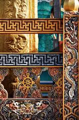 Bhutan: Buddhist Art at Paro Dzong II. (icarium82) Tags: bhutan travel canoneos5dmarkiv artwork captureone detail monastery parodzong sigma100400mmf563dgoshsm woodcarving vibrant