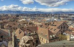 Ginevra (Fil.ippo (away...)) Tags: geneva geneve ginevra roof tetto alps alpi cityscape panorama filippo filippobianchi d5000 nikon oldtown historicalcenter centrostorico svizzera suisse switerland