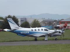 N910RW Daher Socata TBM-910 Redwood 850 Inc Trustee (Aircaft @ Gloucestershire Airport By James) Tags: gloucestershire airport n910rw daher socata tbm910 redwood 850 inc trustee egbj james lloyds
