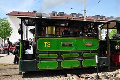 Sarthe steam tram loco 60 at Blonay (TrainsandTravel) Tags: switzerland schweiz suisse narrowgauge voieetroite schmalspurbahn steamtrains trainsàvapeur dampfzüge blonaychamby blonay tramwaylocomotive 060t 60 tramwaysdelasarthe