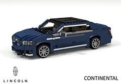 Lincoln Continental - 2017 (lego911) Tags: lincoln 2017 2010s continental luxury premium saloon sedan awd v6 turbo ecoboost cd4 cd43 d544 ford motor company auto car moc model miniland lego lego911 ldd render cad povray foitsop