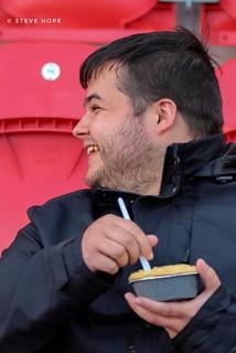 Scunthorpe United supporter at Rotherham United