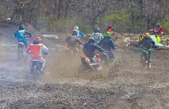Muddy First Turn (John Kocijanski) Tags: motorcycle motocross people groupofpeople race vehicles sport canon70300mmllens dirtbike canon7d