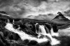 Mount Kirkjufell (deanallanphotography) Tags: adventure beauty blackandwhite cascade clouds iceland landscape lake mountain monochrome ngc natgeo nature outdoor photography river scenic travel water waterfall