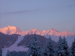 coucher de soleil station de ski les Saisies (AmirKF7) Tags: soleil montagne neige saisies