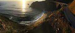 Big Sur bridge (jakswina) Tags: sunset sea dirt road bridge ocean bigsur california highway1