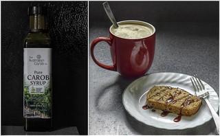 Cinnamon Swirl Cake With Carob Syrup ☕
