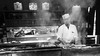 Grilled in trance (Frank Busch) Tags: frankbuschphotography asia bw blackwhite blackandwhite bnw cook gonpachi grill japan monochrome people restaurant shibuya street streetphotography tokyo trance wwwfrankbuschname
