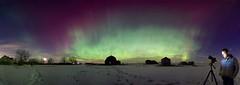 Craig Portrait Panorama - Version 2 (John Andersen (JPAndersen images)) Tags: beiseker albertafarm nightsky auroraborealis panorama snow photography storm g2