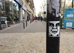 Sticker on Pole (david ross smith) Tags: paris france graffiti art ad poster sign signage lesgrandsboulevards 11tharr 11tharrondissement sticker text