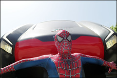 (Take The Spider Train) (Robbie McIntosh) Tags: leicam9p leica m9p rangefinder streetphotography 35mm leicam autaut candid strangers leicaelmarit28mmf28iii elmarit28mmf28iii elmarit 28mm eyecontact comicon cosplay train spiderman