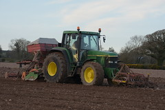 John Deere 6910 Tractor with an Accord SA Compactor Seed Drill, an Amazone Power Harrow & Farm Force Front Press (Shane Casey CK25) Tags: john deere 6910 tractor accord sa compactor seed drill amazone power harrow farm force front press onepass one pass spring wheat conna traktor tracteur traktori trekker trator ciągnik sow sowing set setting drilling tillage till tilling plant planting crop crops cereal cereals county cork ireland irish farmer farming agri agriculture contractor field ground soil dirt earth dust work working horse horsepower hp pull pulling machine machinery grow growing nikon d7200
