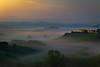 Siena Sunrise (Burgerb) Tags: sienna italy sunrise foggy valley golden hour tuscany