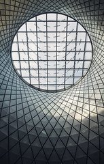 (JawshBeavz) Tags: new york manhattan fulton transit center mta nyc city urbex ceiling symmetry dome whatevz