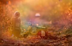 ready for new adventures (Ifigeneia Vasileiadis) Tags: mini miniodyssey adventures gas gasoline vespa haze sunshine flare sunlight