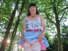 Panties and stockings (Paula Satijn) Tags: sexy hot girl skirt miniskirt satin silk silky shiny soft smooth gurl tgirl outside woods forest blue pink petti petticoat dress stockings lace stockingtops sensual cute sweet adorable lady feminine girly trees lush smile fun happy joy sun sunshine sensuous seductive