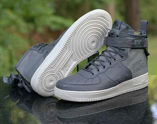 Nike Men Sf Air Force 1 Mid (dark grey dark grey light bone)