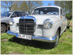 Mercedes-Benz 180 D (v8dub) Tags: mercedes benz 180 d ponton allemagne deutschland germany german niedersachsen debstedt pkw voiture car wagen worldcars auto automobile automotive old oldtimer oldcar klassik classic collector