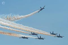 Blue Angels formation break-up, Vero Beach Airshow, 2018-04-20 (JS_Photos) Tags: airshow airplanes verobeach floridaatlanticcoast florida blueangels