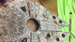 Maudlin: Falcon: Scratches and Gun Metal (Trevdog67) Tags: mpc 1983 maudlinmodellers starwars millenniumfalcon modelkit modelmaking modelling scifi hobby geek painting necroncompound gunmetalgrey weathering usedfuture