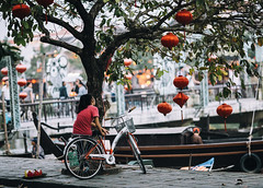 Streets of Hội An (desomnis) Tags: vietnam traveling travel travelphotography street streetphotography streetshot streetlife streetcandid asia southeastasia bike river hoian centralvietnam 6d canoneos6d canon6d trees urban documentaryphotography desomnis 135mm canon135mmf20 canon135mm