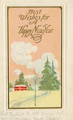 4315 (Ebenezer Maxwell Mansion) Tags: 1900s new year years eve holiday greeting cards postcards design