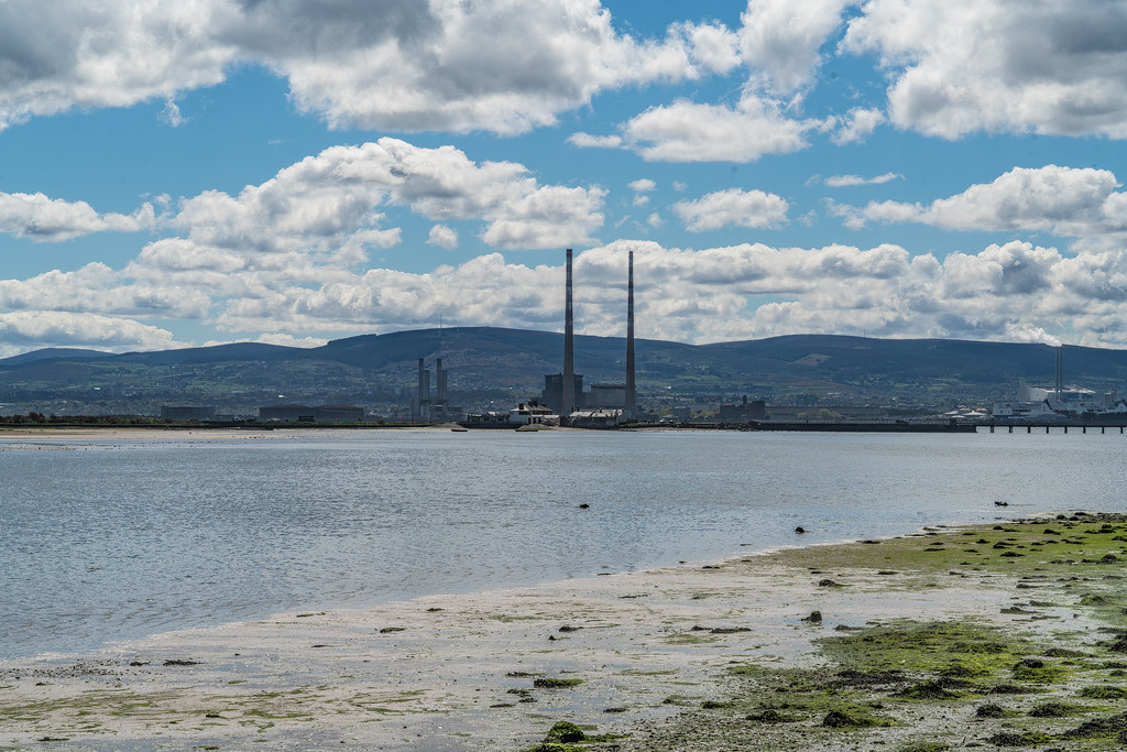 THE POOLBEG STACKS [AS SEEN FROM CLONTARF ROAD IN DUBLIN]-139843