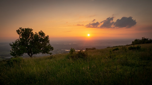 Sonnenuntergang über dem Marchfeld, sunset