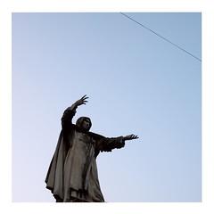 Evocation (ngbrx) Tags: ferrara emiliaromagna italy italia italien statue evocation beschwörung sky himmel skulptur sculpture