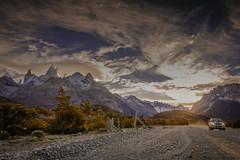 Ruta 23 (Mauro Esains) Tags: nubes ruta 23 santa cruz patagonia ñires lengas bosque cielo viento atardecer el chalten parque nacional los glaciares argentina paisaje camioneta toyota camino piedras árboles