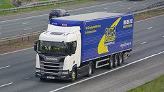 BL67 WKF (panmanstan) Tags: scania ng r410 wagon truck lorry commercial freight transport haulage vehicle a1m fairburn yorkshire
