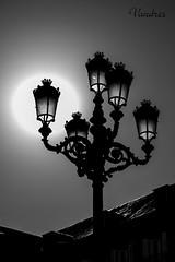 MAD201609__44R-BYN_FLK (Valentin Andres) Tags: bw blackwhite blancoynegro byn españa madrid old spain streetlight town white black blackandwhite centro farol historico