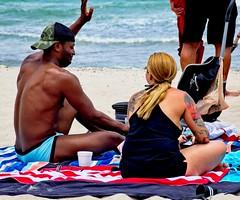 Beach couple (LarryJay99 ) Tags: 2018 beach streets people ftlauderdale ocean atlanticocean