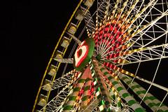 ferris wheel (Notquiteahuman1) Tags: bigwheel ferriswheel carnival attraction volksfest frühlingsfest wasen stuttgart badcannstatt germany lights night outdoors construction metall spring dark croppedsensor nikon1 warm chaud noite b nikon1v2