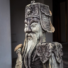 Old Guard (Matt Molloy) Tags: mattmolloy photography stone carving statue sculpture old guard weathered art watphrachetuphonvimolmangklararmrajwaramahaviharn watpho recliningbuddha phranakhon bangkok thailand lovelife