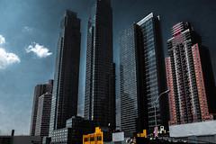 Silver City During My Lunch Break (Eric Gross) Tags: fujifilmx100f architecture newyork cold manhattan futuristic condos