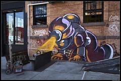 The Miner (LilFr38) Tags: lilfr38 fujifilmxpro2 fujinonxf1024mmf4rois fujifilm xpro2 newyork brooklyn bushwick thebushwickcollective streetart street art color miner rue artderue couleur mineur monkeywrenchfoofighters