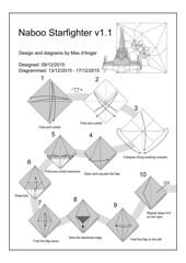 Naboo starfighter v1.1 page 1 (Mdanger217) Tags: star wars naboo starfighter max danger origami diagram