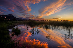 Miroir (joboss83) Tags: nuage sun soleil couleurs étang matin color cloud france provence var la garde landscape paysage fuji fujifilm groupenuagesetciel