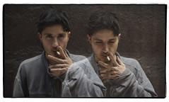 Cole Alexander (The Black Lips) (oscarinn) Tags: theblacklips mexico colealexander portrait retrato doubleexposition post smoking look music makers festivalmarvin