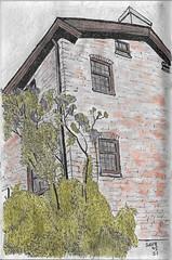 Montgomery's Inn Lilac (Numinosity (Gary J Wood)) Tags: drawings pencildrawings pendrawings