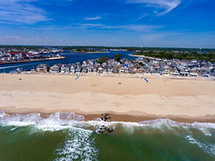 Manasquan Beach and the Atlantic Ocean, captured by a DJI Phantom 4 drone. (apardavila) Tags: atlanticocean djiphantom4 jerseyshore manasquan manasquanbeach manasquaninlet manasquanriver aerial beach clouds drone ocean sky waves