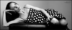nadine_9506 - version 2 (newspaper_guy Mike Orazzi) Tags: nadine brunette ©mikeorazzi model cybersync flash strobist stobe ab800 softbox d300 leather dots flashphotography