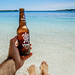 Beach and Beer (scotty-70) Tags: beer vonu lumix beach sand water feet paradise panasonic gx85 bottle