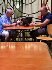 Old guys Rule! (LarryJay99 ) Tags: oldguys bald two tabletop men male man guy guys dude dudes