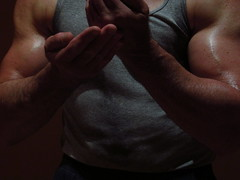 FLEXING BIG MUSCULAR BICEPS (FLEX ROGERS) Tags: biceps muscles muscular workout bodybuilder bodybuilding flex flexing peak abs pecs chest guns fit musclemodel pumped massive