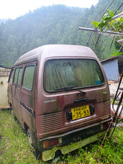 HONDA ACTY STREET (mega_midget_racer) Tags: bmw motorcycle bike touring nature outdoor rain forest rustycars abandoned car cars