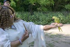 DSC_2199 (photographer695) Tags: wintrade rest recreation hyde park london feeding parakeet birds with nicole ross
