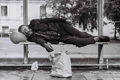Sleeping Beauty (danteavv) Tags: blackwhite street streetphotography poverty saintpetersburg zenit12 ilford filmphotography